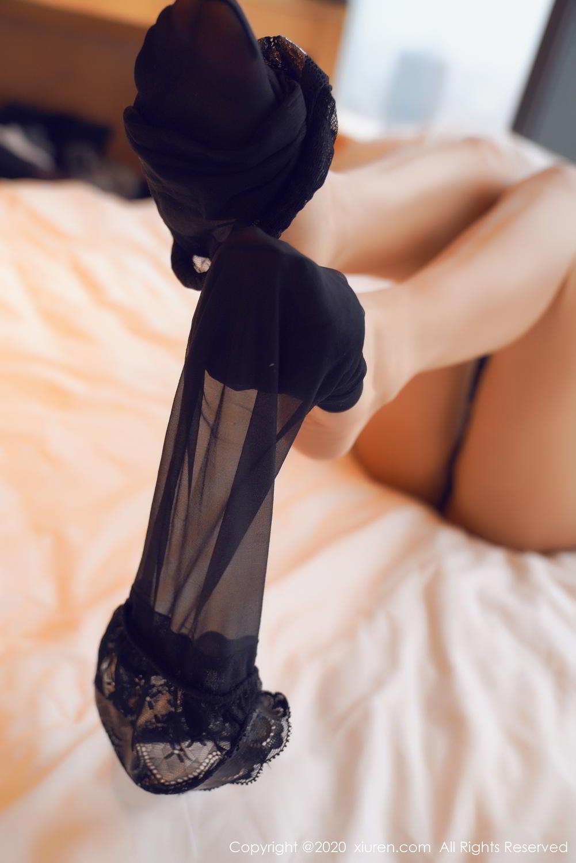 [XiuRen] Vol.2142 Guo Er Victoria 16P, Black Silk, Sexy, Song Guo Er, Underwear, Xiuren