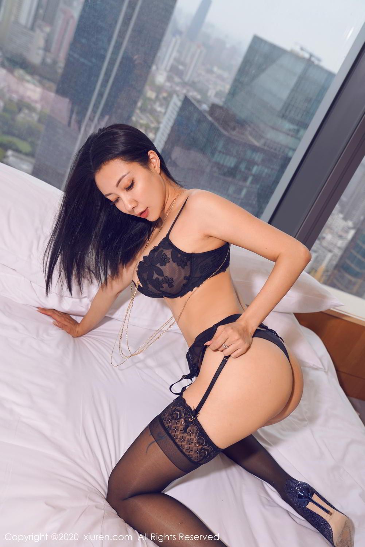 [XiuRen] Vol.2142 Guo Er Victoria 5P, Black Silk, Sexy, Song Guo Er, Underwear, Xiuren