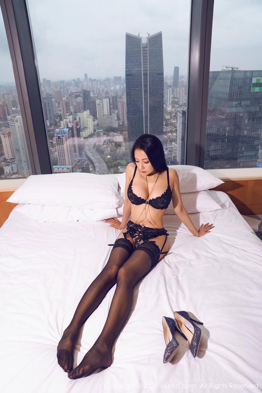 [XiuRen] Vol.2142 Guo Er Victoria 6P, Black Silk, Sexy, Song Guo Er, Underwear, Xiuren