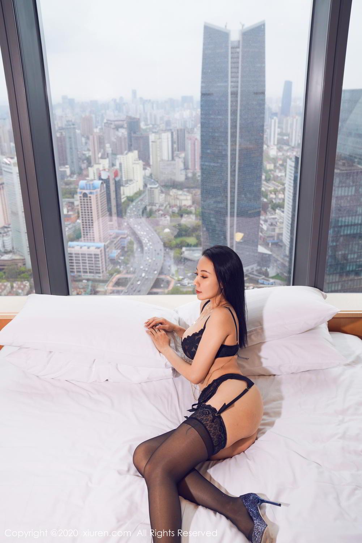 [XiuRen] Vol.2142 Guo Er Victoria 7P, Black Silk, Sexy, Song Guo Er, Underwear, Xiuren