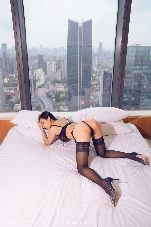 [XiuRen] Vol.2142 Guo Er Victoria 8P, Black Silk, Sexy, Song Guo Er, Underwear, Xiuren
