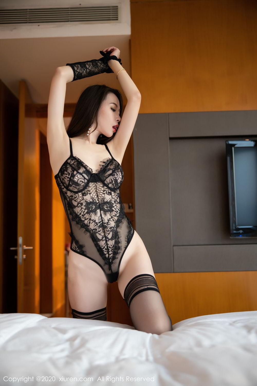 [XiuRen] Vol.2153 Meng Xin Yue 11P, Black Silk, Meng Xin Yue, Tall, Underwear, Xiuren