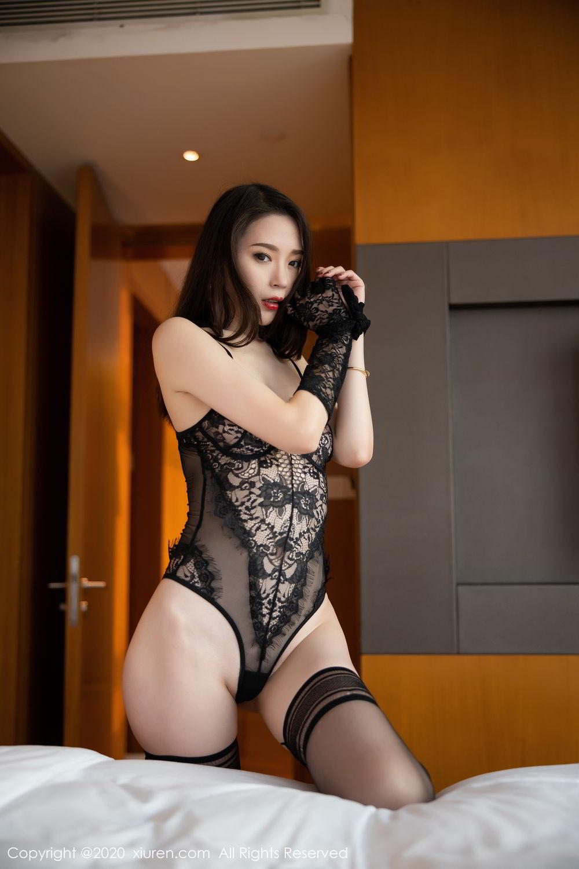 [XiuRen] Vol.2153 Meng Xin Yue 12P, Black Silk, Meng Xin Yue, Tall, Underwear, Xiuren