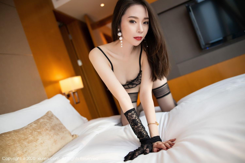 [XiuRen] Vol.2153 Meng Xin Yue 13P, Black Silk, Meng Xin Yue, Tall, Underwear, Xiuren