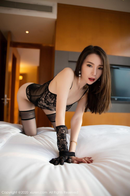 [XiuRen] Vol.2153 Meng Xin Yue 14P, Black Silk, Meng Xin Yue, Tall, Underwear, Xiuren