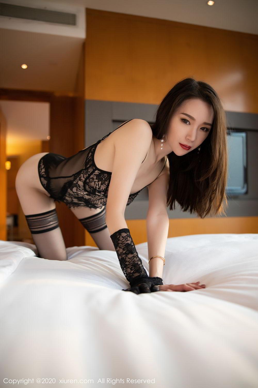 [XiuRen] Vol.2153 Meng Xin Yue 15P, Black Silk, Meng Xin Yue, Tall, Underwear, Xiuren