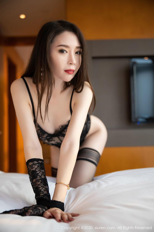 [XiuRen] Vol.2153 Meng Xin Yue 1P, Black Silk, Meng Xin Yue, Tall, Underwear, Xiuren