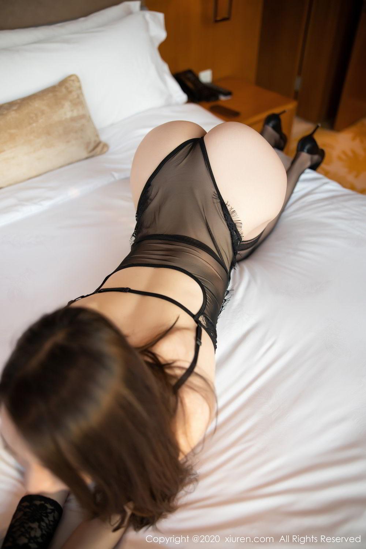 [XiuRen] Vol.2153 Meng Xin Yue 20P, Black Silk, Meng Xin Yue, Tall, Underwear, Xiuren
