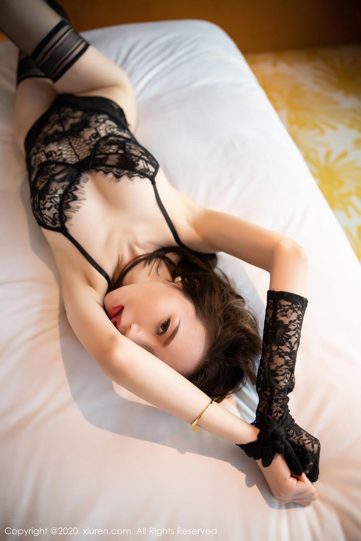 [XiuRen] Vol.2153 Meng Xin Yue 2P, Black Silk, Meng Xin Yue, Tall, Underwear, Xiuren