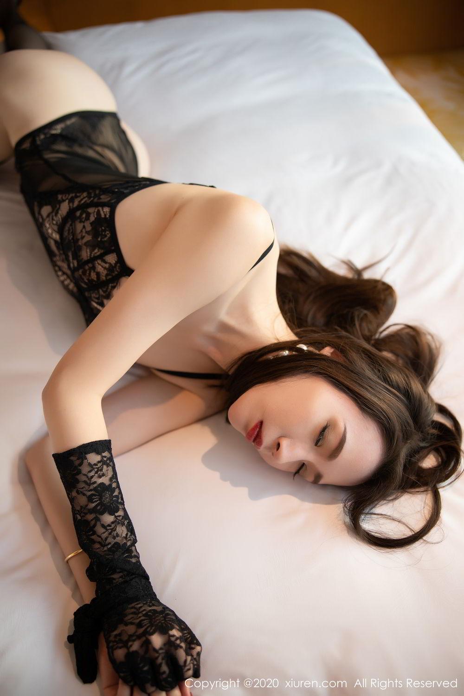 [XiuRen] Vol.2153 Meng Xin Yue 30P, Black Silk, Meng Xin Yue, Tall, Underwear, Xiuren