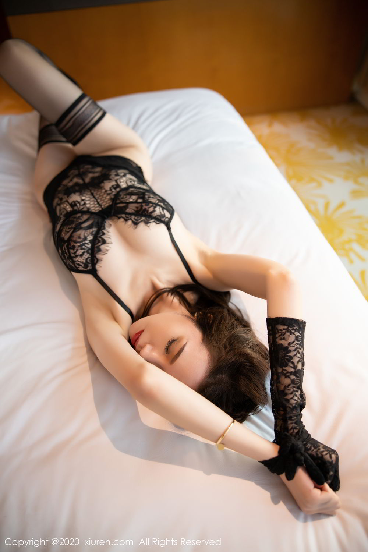 [XiuRen] Vol.2153 Meng Xin Yue 31P, Black Silk, Meng Xin Yue, Tall, Underwear, Xiuren