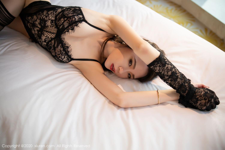 [XiuRen] Vol.2153 Meng Xin Yue 33P, Black Silk, Meng Xin Yue, Tall, Underwear, Xiuren