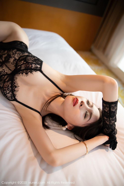 [XiuRen] Vol.2153 Meng Xin Yue 34P, Black Silk, Meng Xin Yue, Tall, Underwear, Xiuren