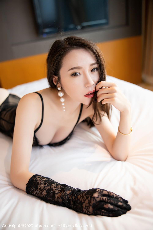 [XiuRen] Vol.2153 Meng Xin Yue 40P, Black Silk, Meng Xin Yue, Tall, Underwear, Xiuren