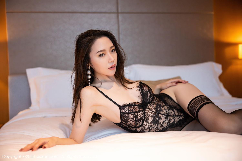 [XiuRen] Vol.2153 Meng Xin Yue 42P, Black Silk, Meng Xin Yue, Tall, Underwear, Xiuren