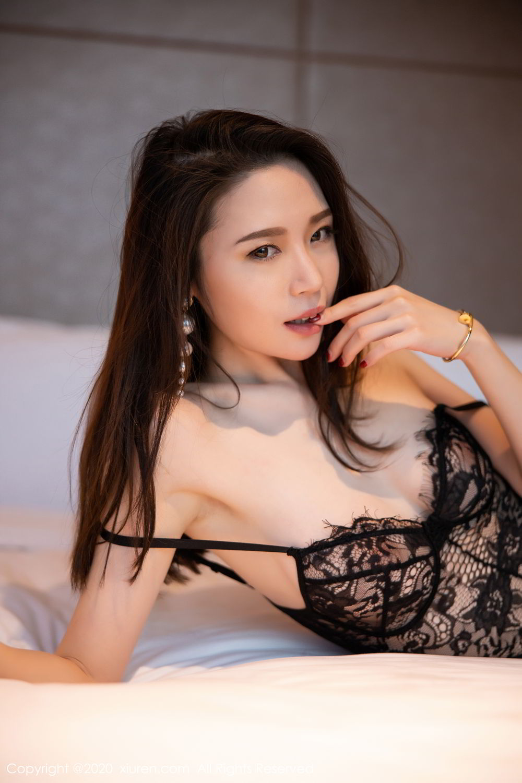 [XiuRen] Vol.2153 Meng Xin Yue 43P, Black Silk, Meng Xin Yue, Tall, Underwear, Xiuren