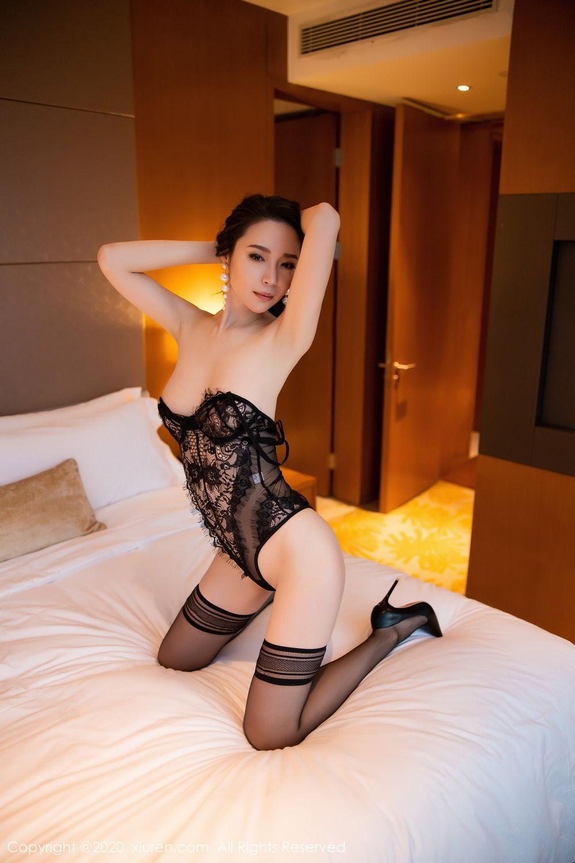 [XiuRen] Vol.2153 Meng Xin Yue 47P, Black Silk, Meng Xin Yue, Tall, Underwear, Xiuren