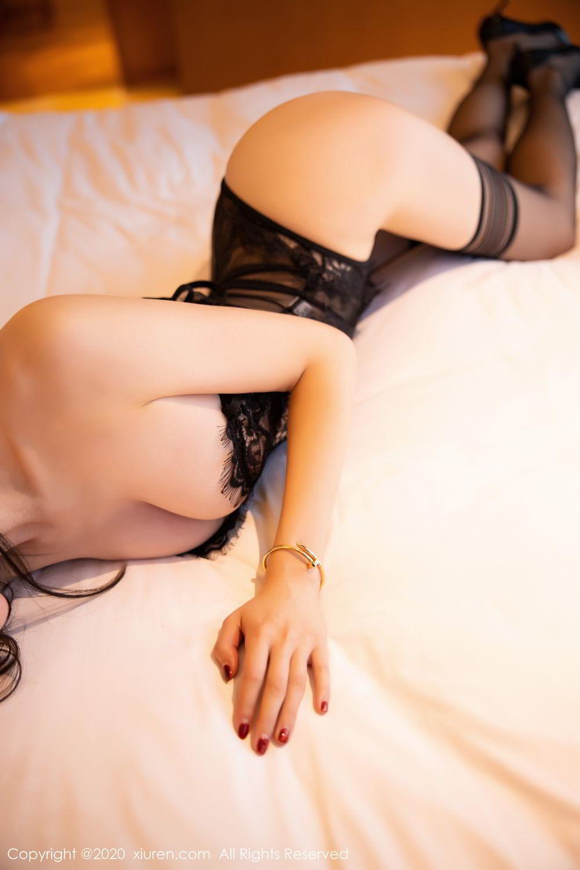 [XiuRen] Vol.2153 Meng Xin Yue 49P, Black Silk, Meng Xin Yue, Tall, Underwear, Xiuren