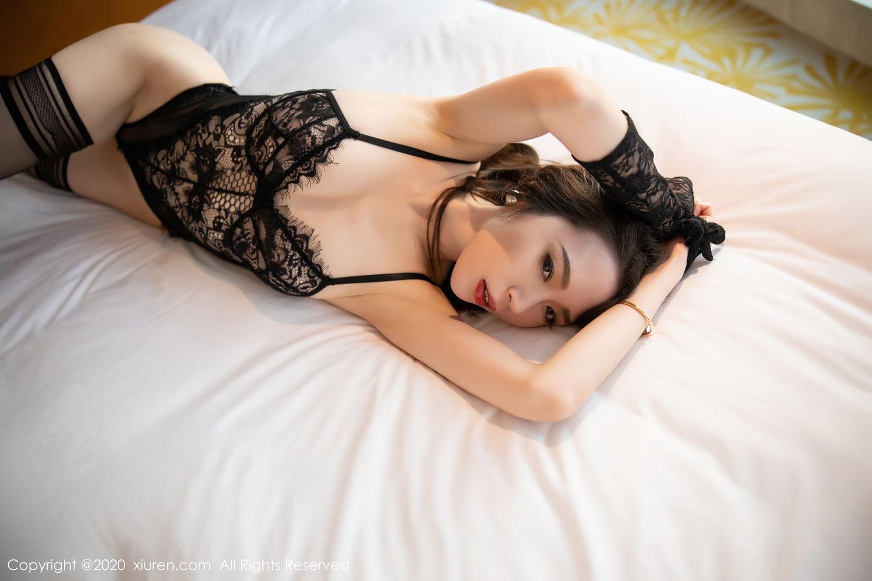 [XiuRen] Vol.2153 Meng Xin Yue 5P, Black Silk, Meng Xin Yue, Tall, Underwear, Xiuren