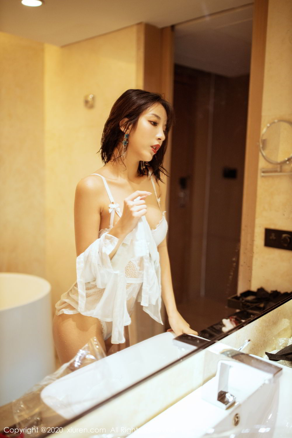 [XiuRen] Vol.2158 Chen Xiao Miao 11P, Bathroom, Chen Xiao Miao, Tall, Wet, Xiuren