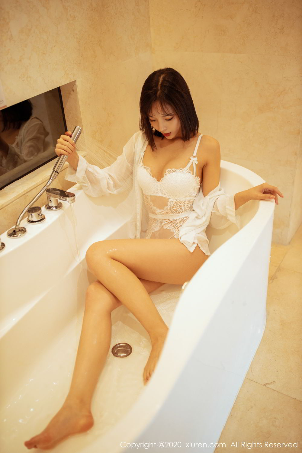 [XiuRen] Vol.2158 Chen Xiao Miao 18P, Bathroom, Chen Xiao Miao, Tall, Wet, Xiuren