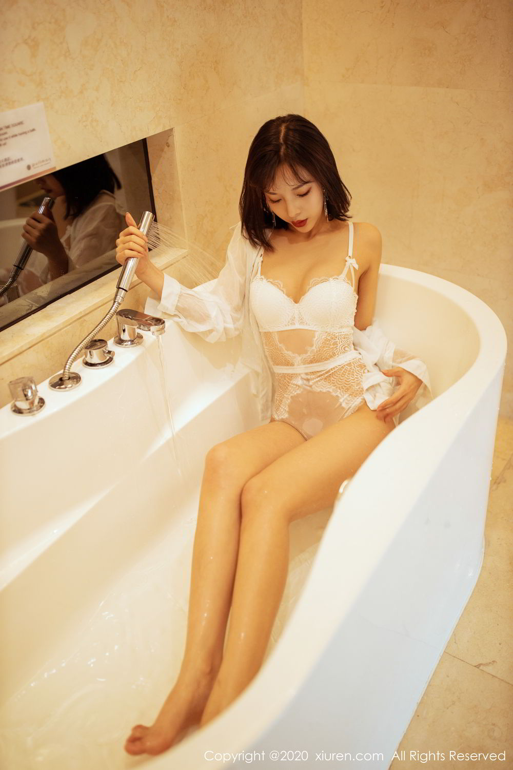 [XiuRen] Vol.2158 Chen Xiao Miao 19P, Bathroom, Chen Xiao Miao, Tall, Wet, Xiuren