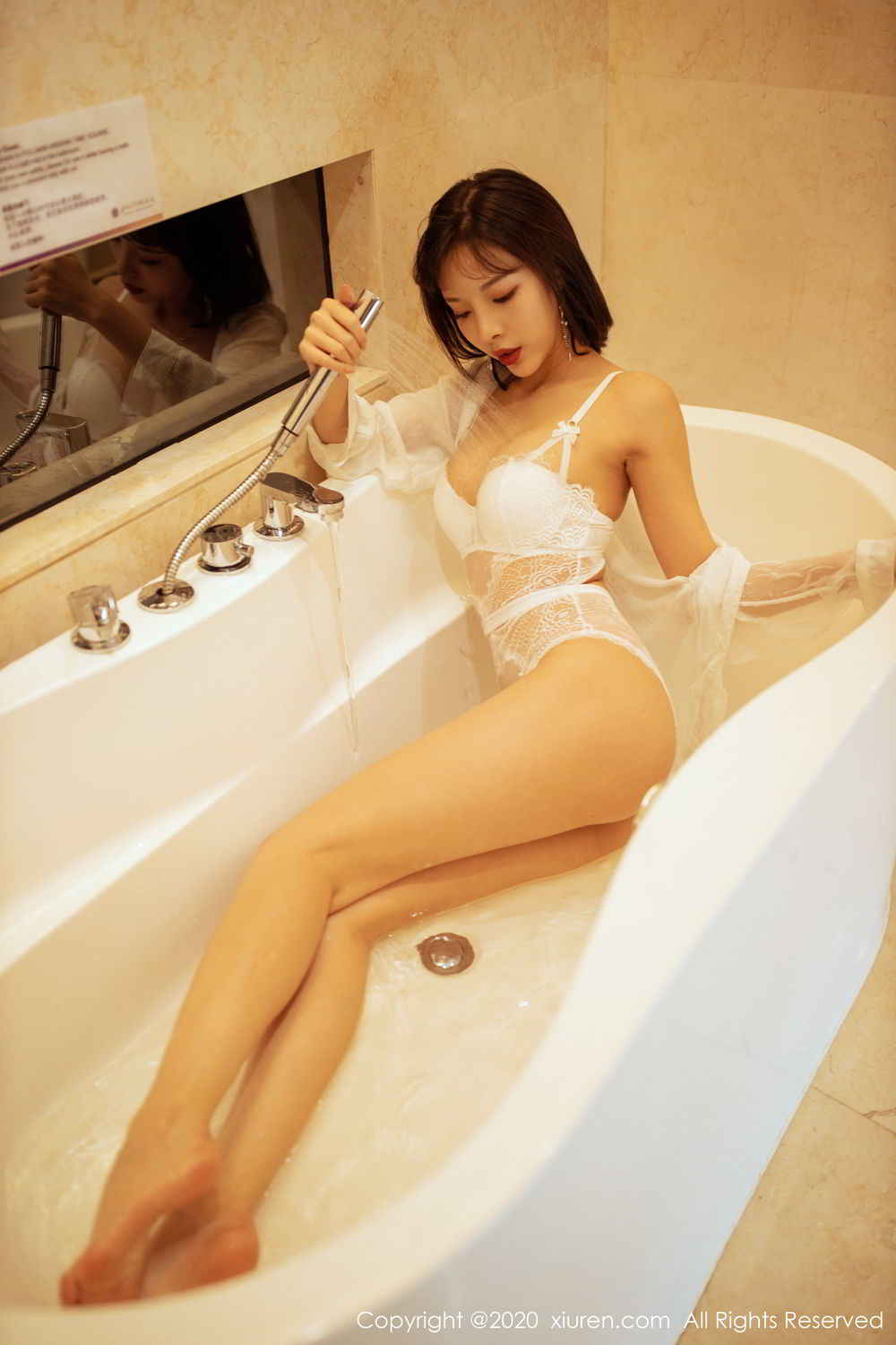 [XiuRen] Vol.2158 Chen Xiao Miao 20P, Bathroom, Chen Xiao Miao, Tall, Wet, Xiuren