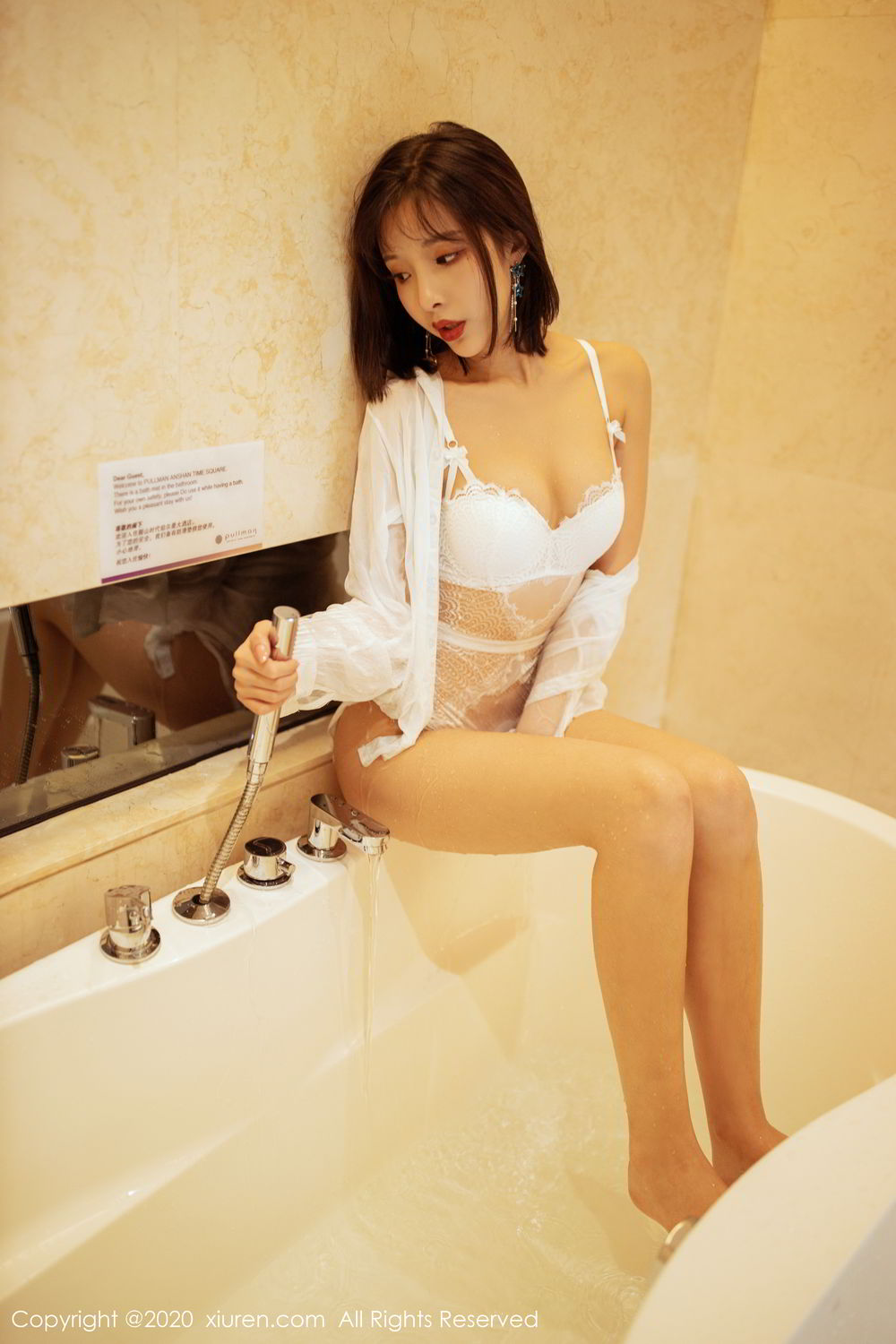 [XiuRen] Vol.2158 Chen Xiao Miao 21P, Bathroom, Chen Xiao Miao, Tall, Wet, Xiuren