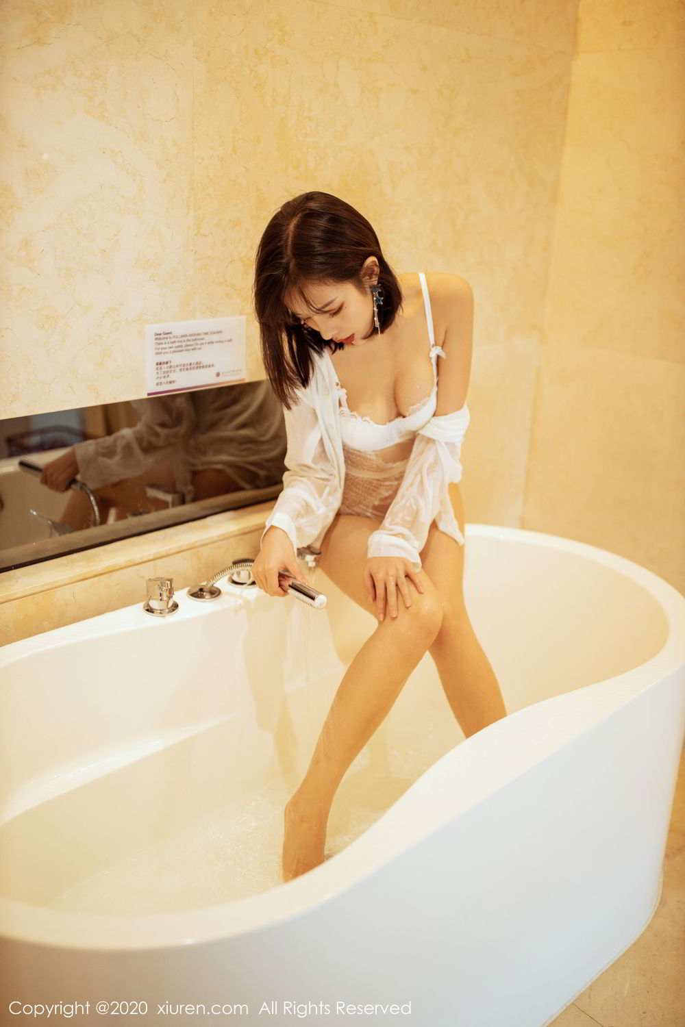 [XiuRen] Vol.2158 Chen Xiao Miao 22P, Bathroom, Chen Xiao Miao, Tall, Wet, Xiuren