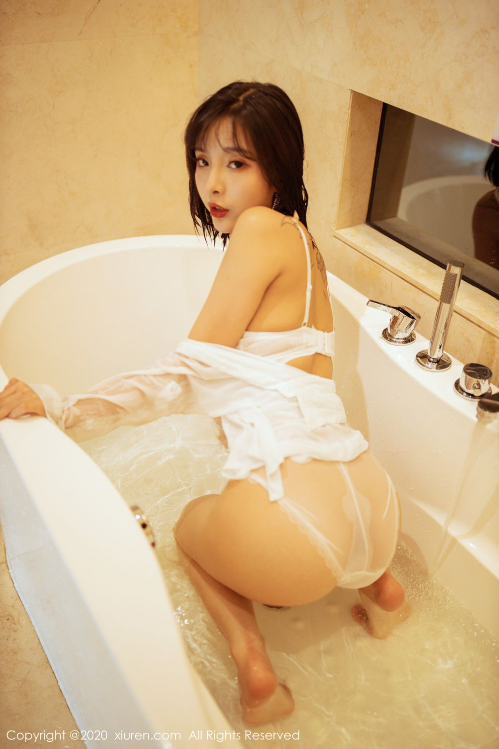 [XiuRen] Vol.2158 Chen Xiao Miao 24P, Bathroom, Chen Xiao Miao, Tall, Wet, Xiuren