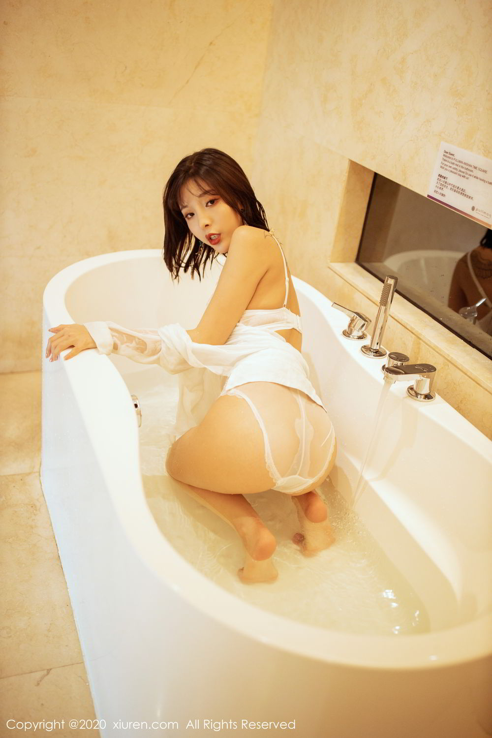 [XiuRen] Vol.2158 Chen Xiao Miao 25P, Bathroom, Chen Xiao Miao, Tall, Wet, Xiuren
