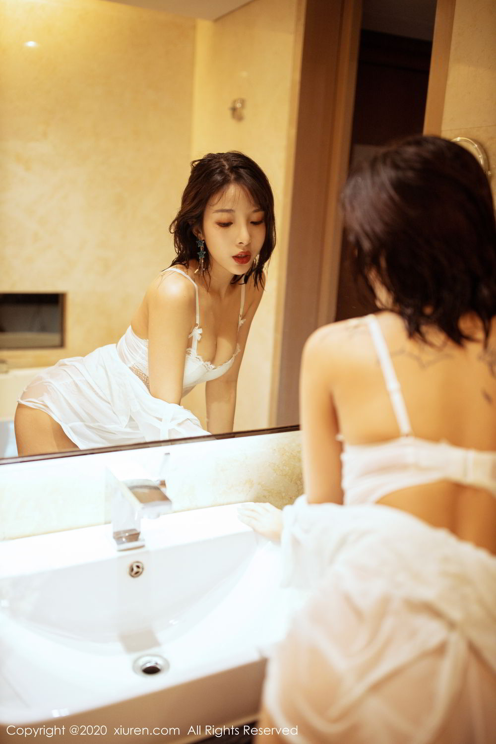 [XiuRen] Vol.2158 Chen Xiao Miao 2P, Bathroom, Chen Xiao Miao, Tall, Wet, Xiuren