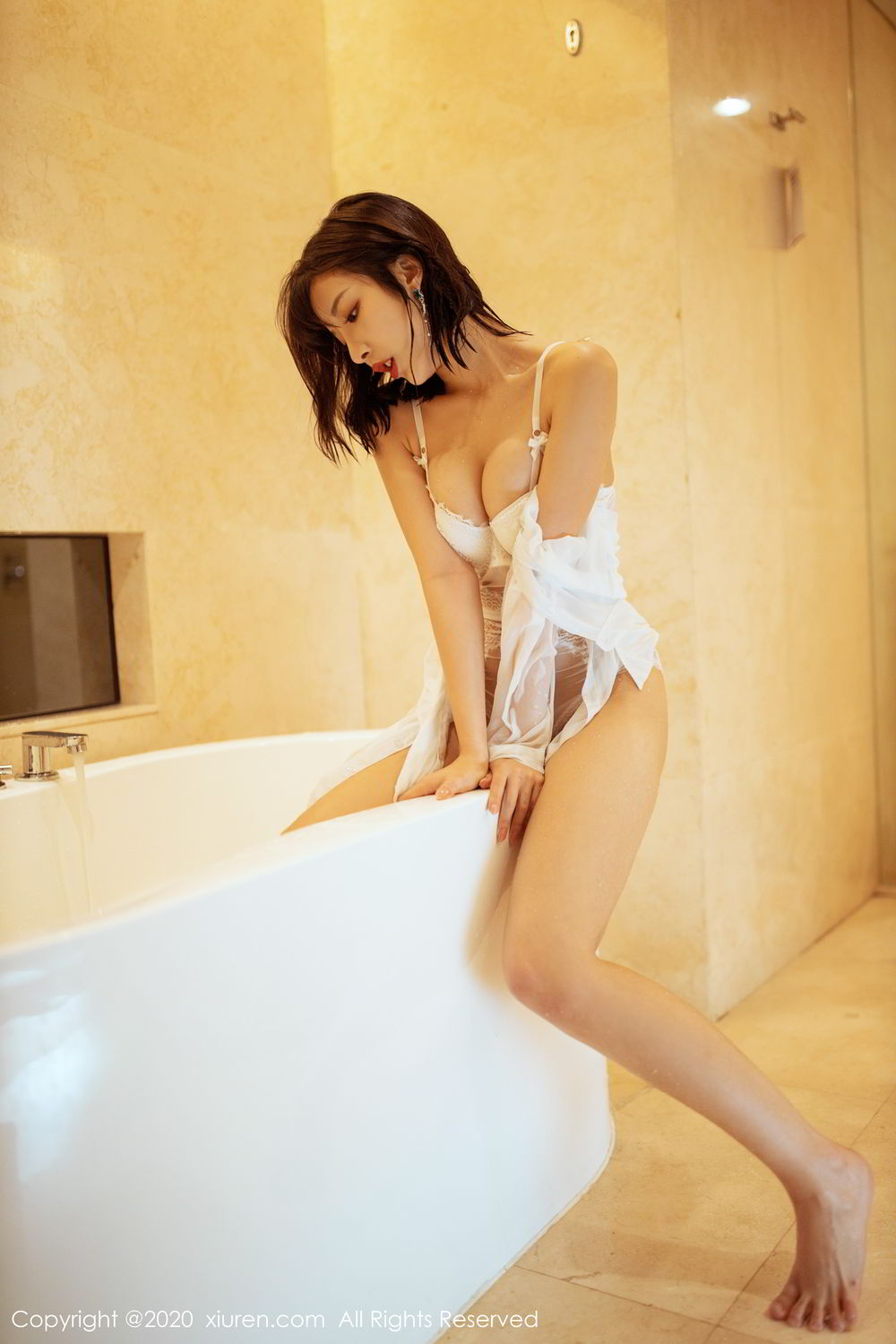 [XiuRen] Vol.2158 Chen Xiao Miao 34P, Bathroom, Chen Xiao Miao, Tall, Wet, Xiuren