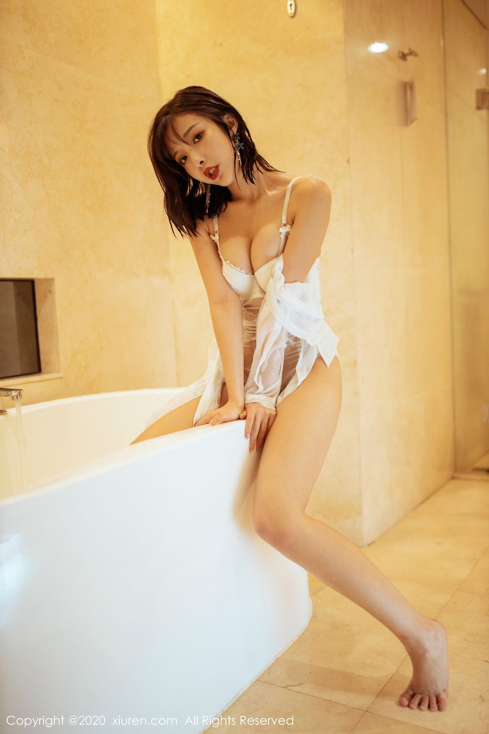[XiuRen] Vol.2158 Chen Xiao Miao 35P, Bathroom, Chen Xiao Miao, Tall, Wet, Xiuren