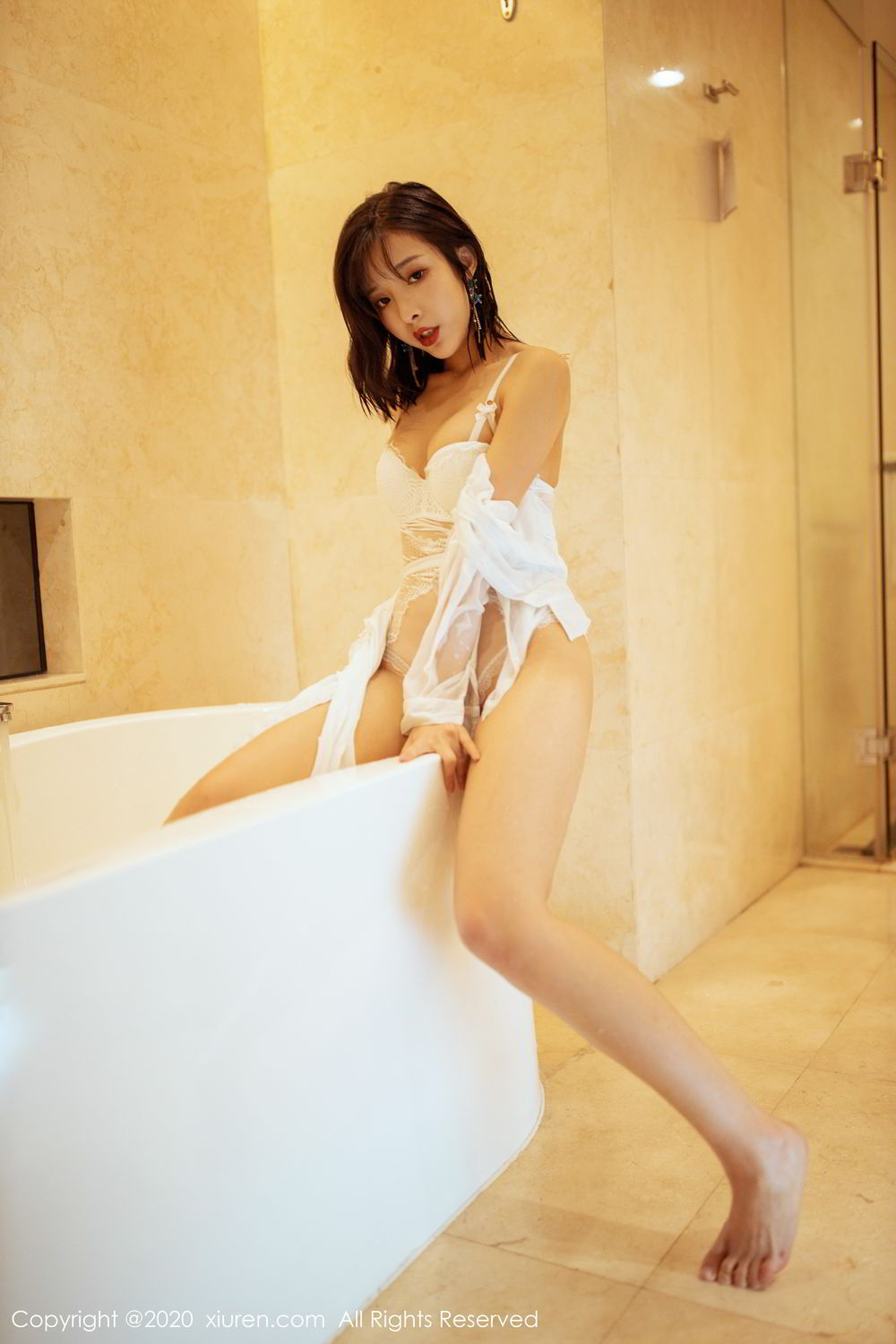 [XiuRen] Vol.2158 Chen Xiao Miao 36P, Bathroom, Chen Xiao Miao, Tall, Wet, Xiuren