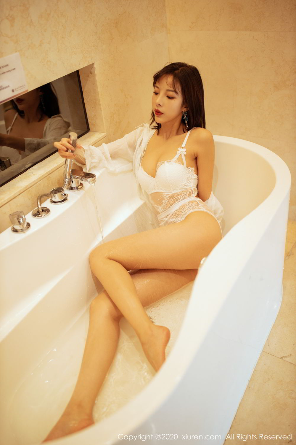 [XiuRen] Vol.2158 Chen Xiao Miao 3P, Bathroom, Chen Xiao Miao, Tall, Wet, Xiuren