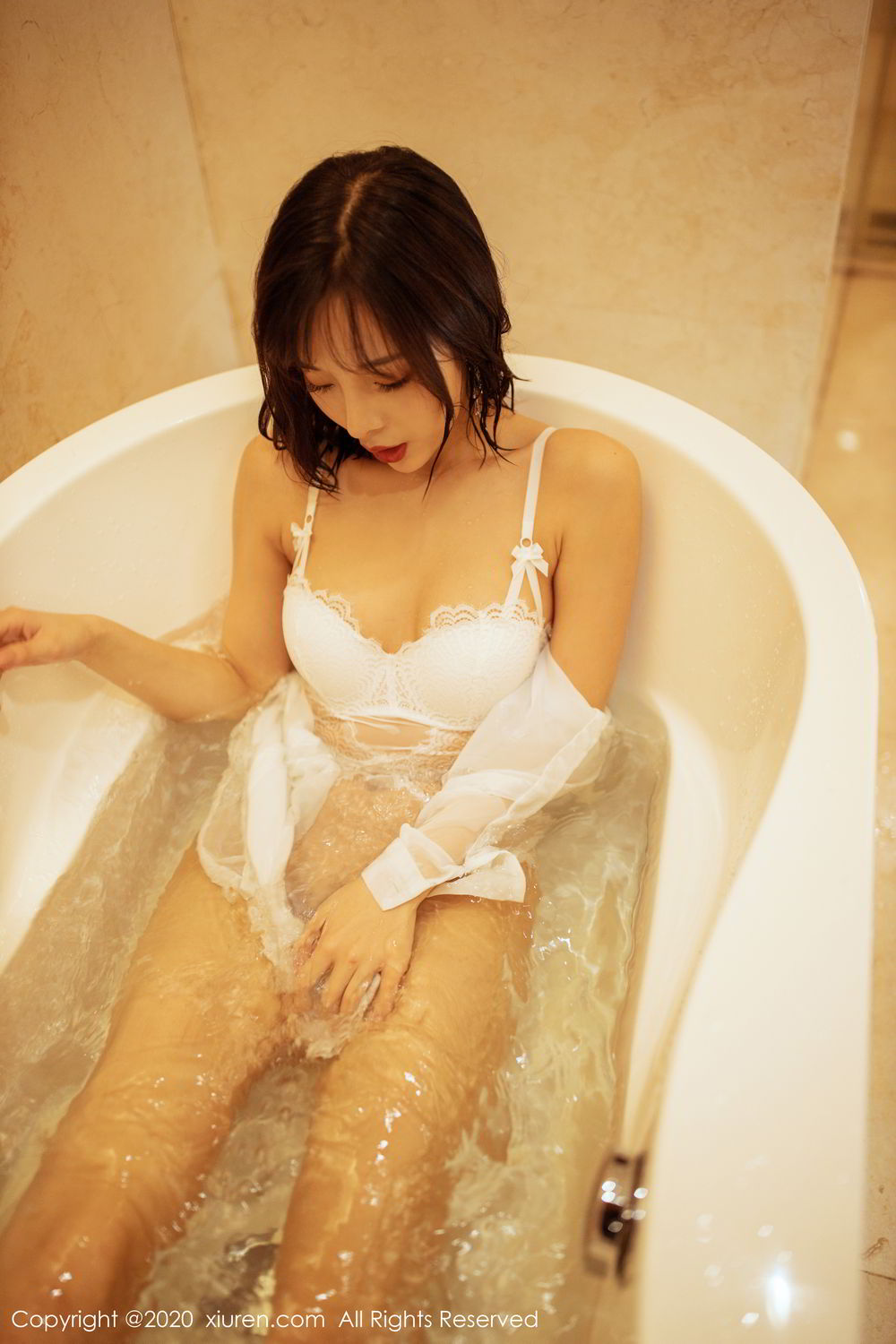 [XiuRen] Vol.2158 Chen Xiao Miao 50P, Bathroom, Chen Xiao Miao, Tall, Wet, Xiuren