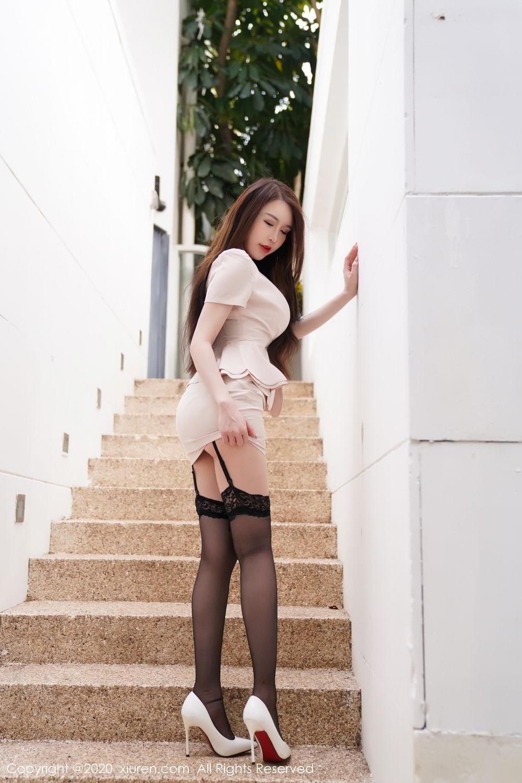 [XiuRen] Vol.2170 Yu Tu Miki 10P, Black Silk, Uniform, Xiuren, Yu Tu M I K I
