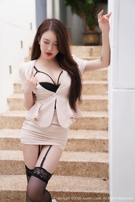 [XiuRen] Vol.2170 Yu Tu Miki 11P, Black Silk, Uniform, Xiuren, Yu Tu M I K I