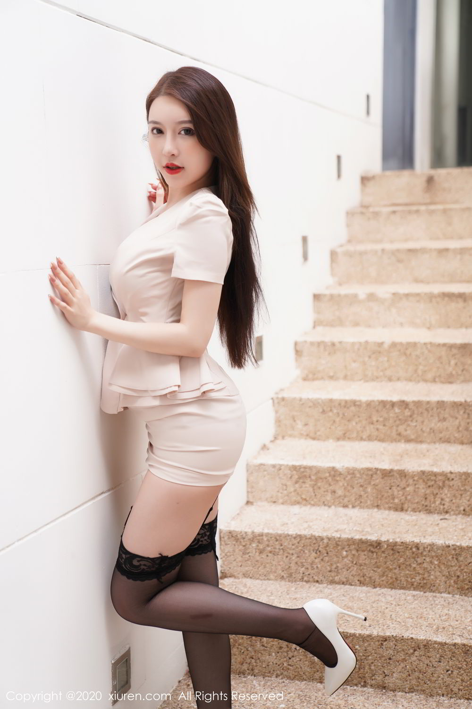 [XiuRen] Vol.2170 Yu Tu Miki 12P, Black Silk, Uniform, Xiuren, Yu Tu M I K I