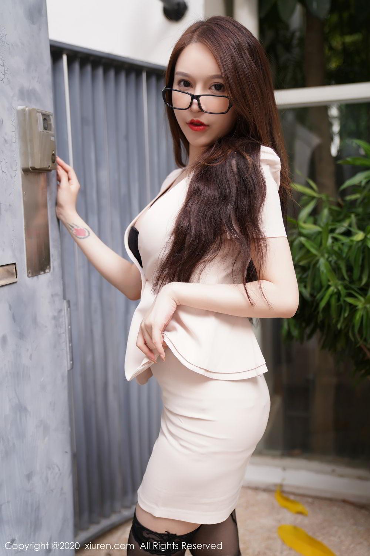 [XiuRen] Vol.2170 Yu Tu Miki 14P, Black Silk, Uniform, Xiuren, Yu Tu M I K I