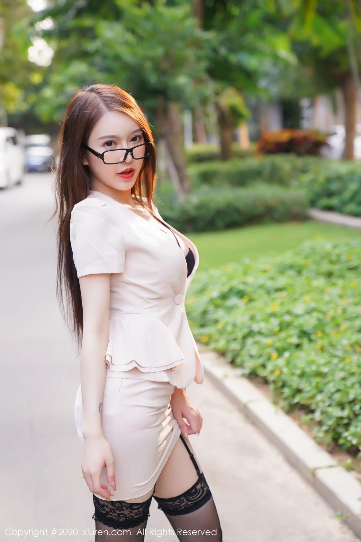[XiuRen] Vol.2170 Yu Tu Miki 19P, Black Silk, Uniform, Xiuren, Yu Tu M I K I