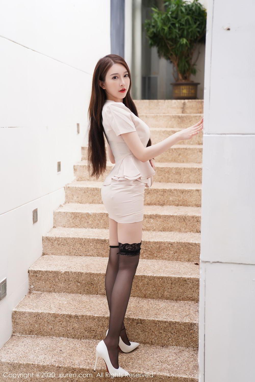 [XiuRen] Vol.2170 Yu Tu Miki 1P, Black Silk, Uniform, Xiuren, Yu Tu M I K I