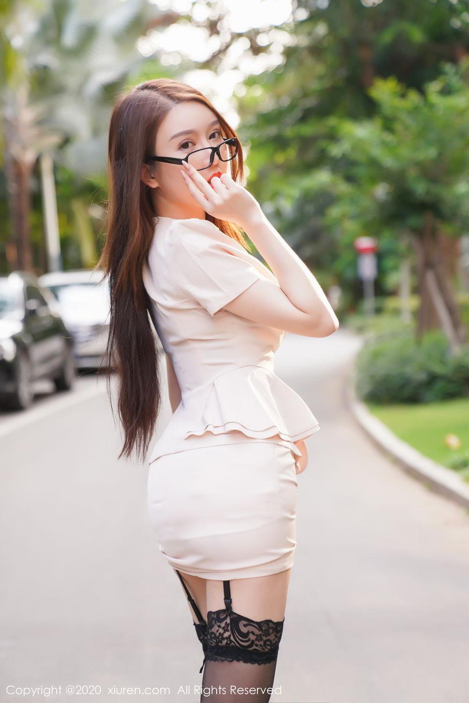 [XiuRen] Vol.2170 Yu Tu Miki 20P, Black Silk, Uniform, Xiuren, Yu Tu M I K I