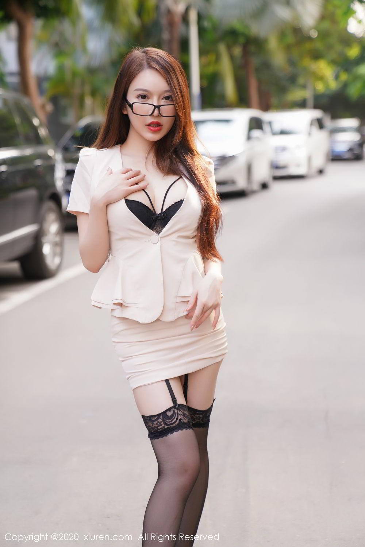 [XiuRen] Vol.2170 Yu Tu Miki 22P, Black Silk, Uniform, Xiuren, Yu Tu M I K I