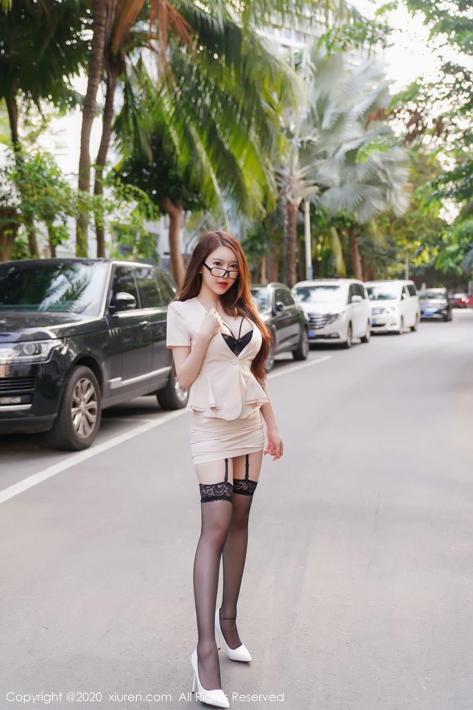 [XiuRen] Vol.2170 Yu Tu Miki 23P, Black Silk, Uniform, Xiuren, Yu Tu M I K I