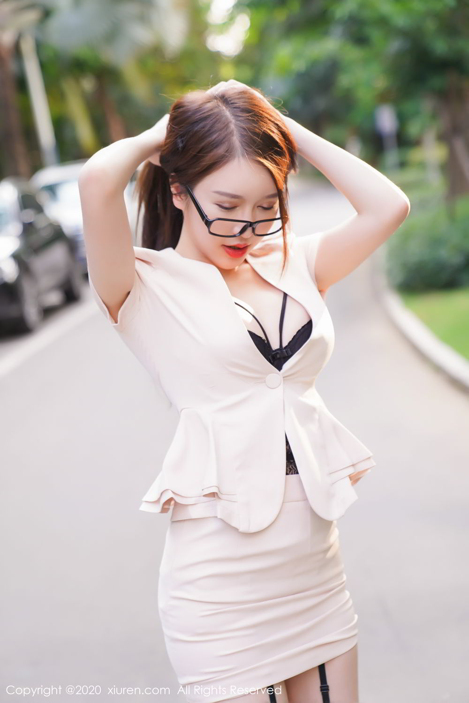 [XiuRen] Vol.2170 Yu Tu Miki 24P, Black Silk, Uniform, Xiuren, Yu Tu M I K I