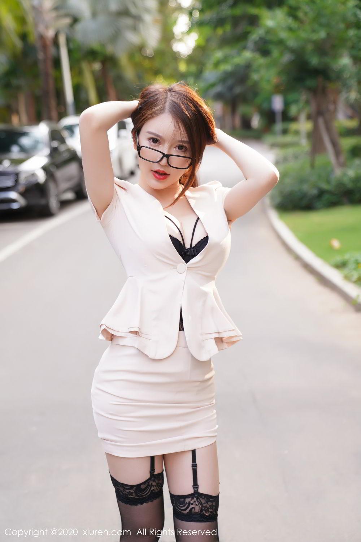 [XiuRen] Vol.2170 Yu Tu Miki 26P, Black Silk, Uniform, Xiuren, Yu Tu M I K I