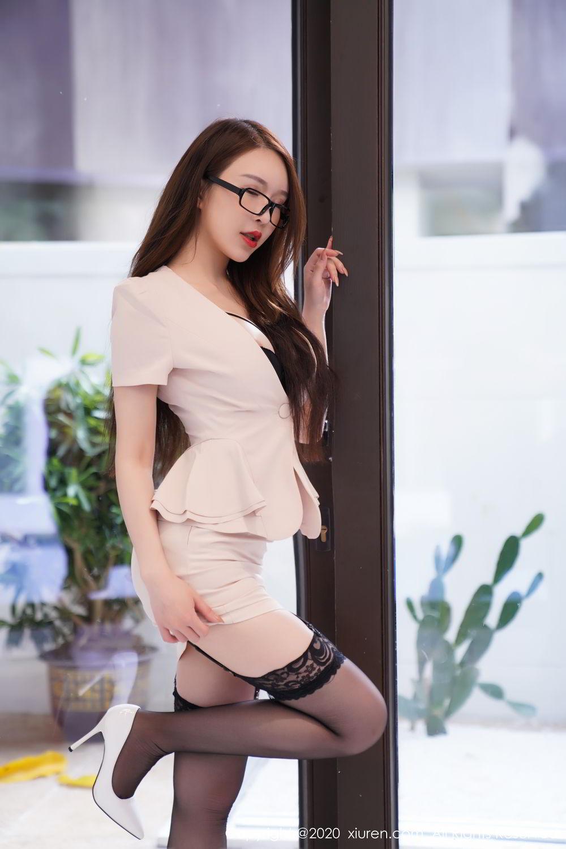 [XiuRen] Vol.2170 Yu Tu Miki 28P, Black Silk, Uniform, Xiuren, Yu Tu M I K I