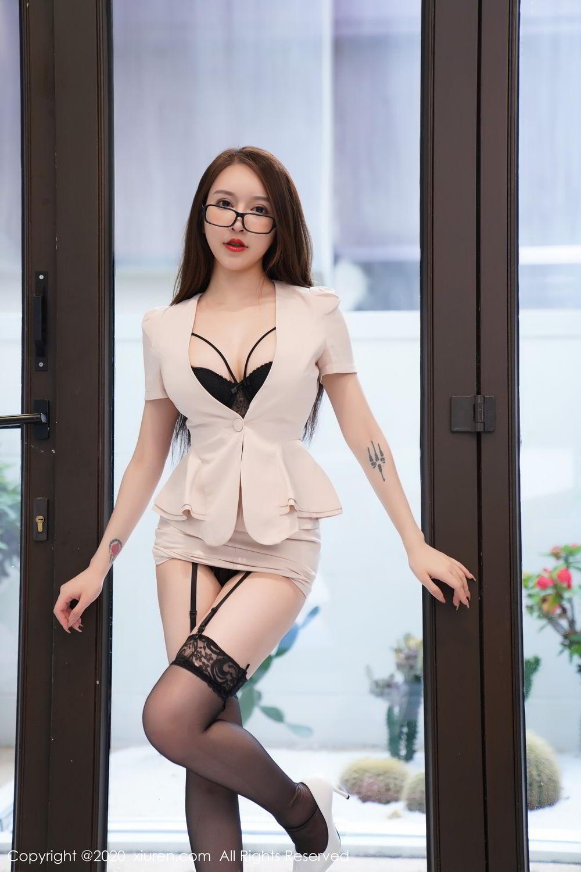 [XiuRen] Vol.2170 Yu Tu Miki 35P, Black Silk, Uniform, Xiuren, Yu Tu M I K I